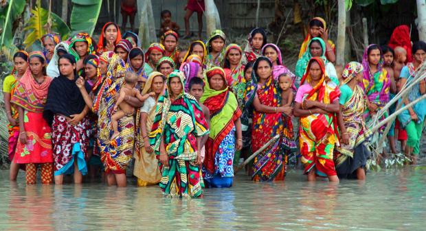 কুড়িগ্রামের রাজিবপুরে বন্যায় ক্ষতিগ্রস্ত মানুষ। আগস্ট ০৮, ২০১৬।