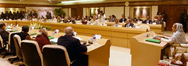 প্রধানমন্ত্রী কার্যালয়ে শেখ হাসিনার সভাপতিত্বে মন্ত্রিপরিষদের সভা অনুষ্ঠিত হয়। ২৯ জানুয়ারি ২০১৮। [সৌজন্যে: বাসস]