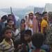 টেকনাফের উনচিপ্রাং শরণার্থী শিবিরে এর রোহিঙ্গা বরযাত্রী।