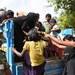 পালিয়ে আসা রোহিঙ্গাদের এক জায়গায় রাখতে ট্রাকে করে নিয়ে যাচ্ছে সেনাবাহিনী