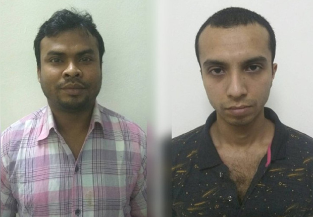 Bangladesh police released photos of suspects Hadisur Rahman Sagor (left), and Akram Hossain Niloy, March 22, 2018. [Newsroom photo]