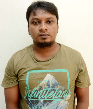 Police arrested Abu Siddique Sohel who is suspected of participating in the 2015 killing of Avijit Roy, Nov. 6, 2017. (Focus Bangla)