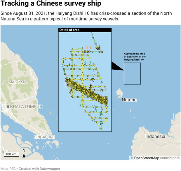 Chinese Survey Ship Lingering in Indonesia's EEZ Poses Dilemma for Jakarta