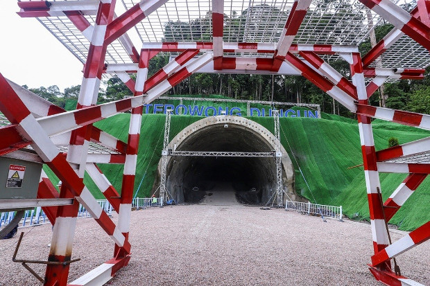 This partly completed section of a tunnel is part of the ECRL project in Dungun, in the state of Terengganu, northeast of Kuala Lumpur, July 25, 2019. [BenarNews]