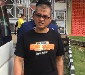 Yazid Sufaat leaves the Simpang Rengaan prison upon his release from the facility in Johor, Malaysia, Nov. 20, 2019. [Courtesy Royal Malaysia Police]