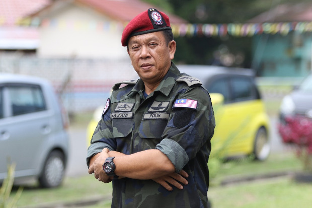 Hazani Ghazali, now the police chief of Sabah state, is pictured in 2018 when he served as head of the Eastern Sabah Security Command (ESSCOM). [Handout photo from ESSCOM]