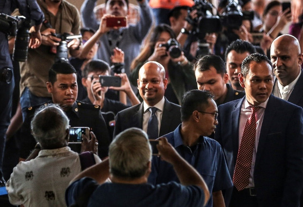 Former 1MDB CEO Arul Kanda arrives at the Kuala Lumpur Sessions Court, Dec.12, 2018. (S.Mahfuz/BenarNews)