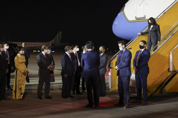 American VP Harris in Vietnam for Covid Collaboration and Security Talks
