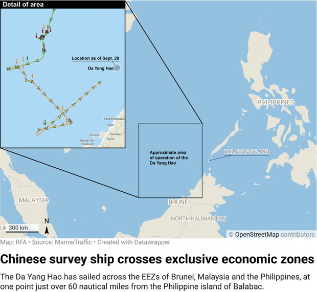 Malaysia Summons China's Envoy to Protest Ships in its EEZ