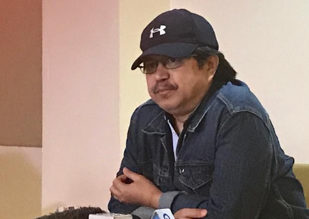 Former Philippine police officer Col. Eduardo Acierto meets with select members of the press in Manila, March 24, 2019. [Jason Gutierrez/BenarNews]