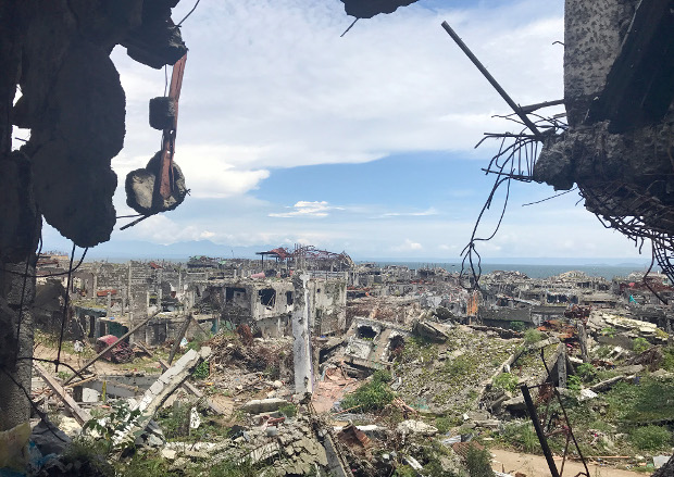 Five months of fighting between government security forces and pro-Islamic State militants last year left the southern Philippine city of Marawi in ruins, June 15, 2018.