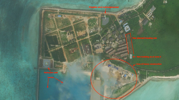Tree Island's changes imply greater human settlement on the island over the last six months, Oct.7, 2020. [Planet Labs Inc.]