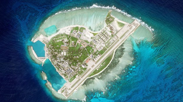 China Reclaims Land, Fortifies Coast of South China Sea Island Base to Prevent Erosion