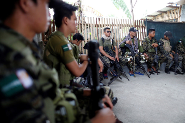 Members of the Moro Islamic Liberation Front are seen inside their camp in in Maguindanao province, July 25, 2018. (Jeoffrey Maitem/BenarNews)