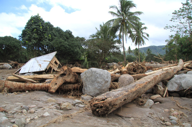 Tropical Storm Tembin (Vinta) left a trail of destruction in the southern Philippines, including in Tubod, a town in Lanao del Norte province, Dec. 25, 2017.