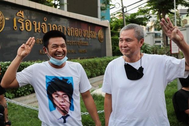 Thai Court Grants Bail to 2 Pro-Democracy Activists