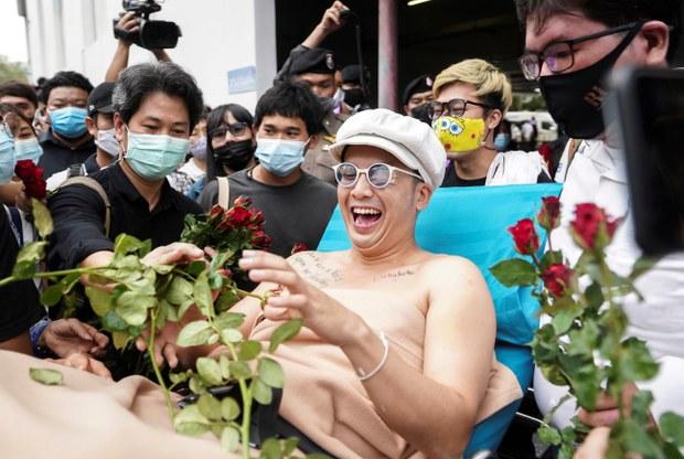 Thai Pop Star-Activist Arrested on Suspicion of Torching King's Portrait