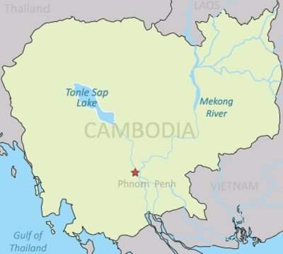 Map of the Tonle Sap in Cambodia Photo: RFA