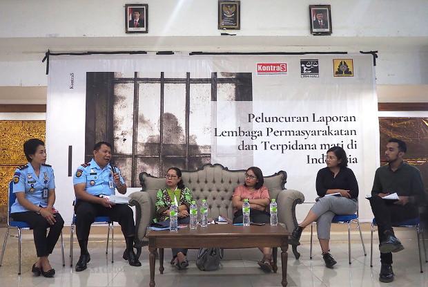 Suasana peluncuran laporan situasi lembaga pemasyarakatan bagi terpidana mati di Denpasar, Bali, 21 Oktober 2019. (Anton Muhajir/BeritaBenar)