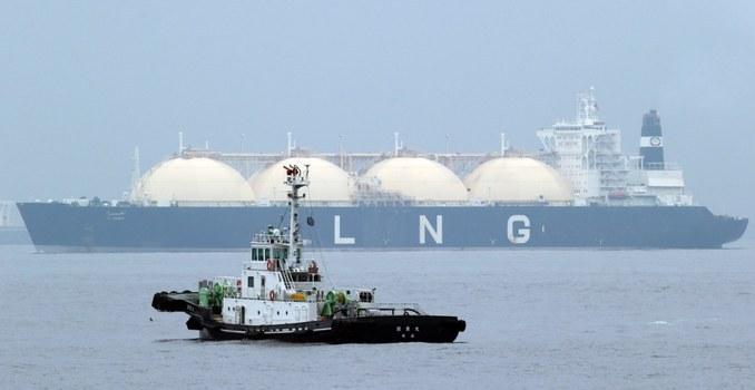 Tanker LNG (Liquefied Natural Gas) Al Hamra berlabuh di Yokohama, di barat daya Tokyo. [AP]