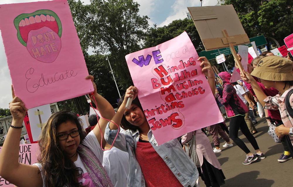 Toleransi Diangkat dalam Aksi Hari Perempuan Internasional