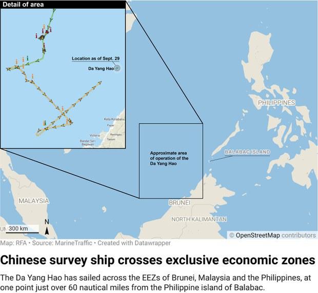 Malaysia Panggil Duta China Untuk Bantah Kehadiran Kapal di EEZ