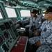 Anggota Tentera Laut Diraja Malaysia menjalankan kerja-kerja mencari dan menyelamat kehilangan kelasi yang hilang dari kapal Amerika Syarikat USS John S. McCain di perairan Johor di Selat Singapura, 23 Ogos 2017.