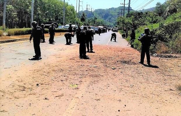 คนร้ายวางระเบิด ตำรวจเจ็บ 2 นาย ที่บันนังสตา ยะลา