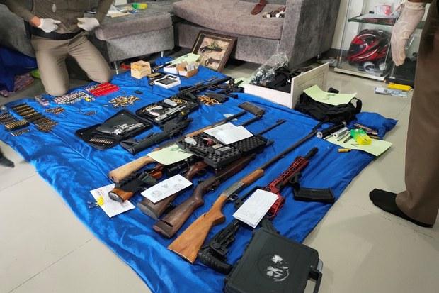 กองบัญชาการสอบสวนกลางกวาดล้างปืนเถื่อนกว่า 300 กระบอก